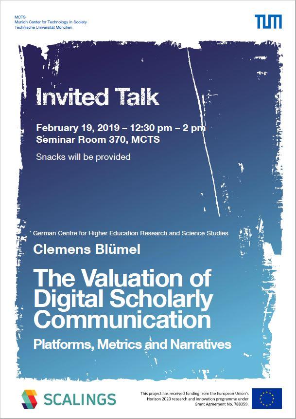 Invited Talk Clemens Blümel